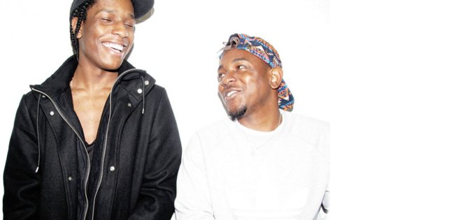 kendrick lamar and asap rocky together